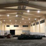 Neubau einer riesigen Produktionshalle